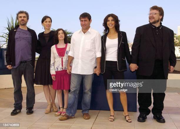 Alfonso Cuaron Maribel Verdu Ivana Baquero Sergi Lopez Ariadna Gil and Guillermo Del Toro executive producer