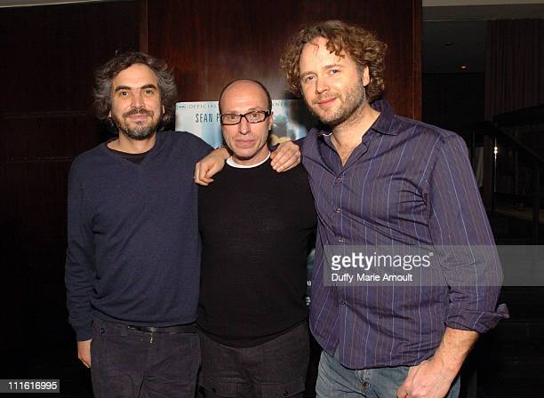 Alfonso Cuaron Mark Urman and Niels Mueller during 'The Assassination of Richard Nixon' Special New York City Screening at Bryant Park Hotel in New...