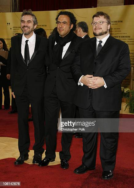 """Alfonso Cuaron, nominee Best Adapted Screenplay amd Best Film Editing for """"Children of Men"""", Alejandro Gonzalez Inarritu, nominee Best Picture and..."""