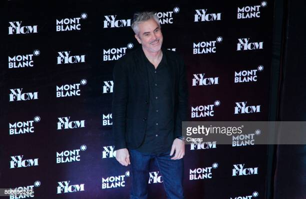 Alfonso Cuaron poses during the red carpet of 'The Shape of Water' as part of the XV Morelia International Film Festival at Cine las Americas on...