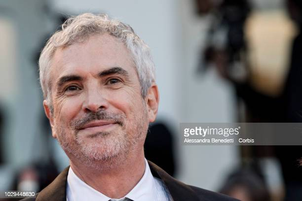 Alfonso Cuaron walks the red carpet ahead of the Award Ceremony during the 75th Venice Film Festival at Sala Grande on September 8 2018 in Venice...