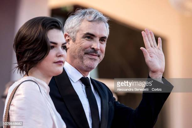 Alfonso Cuaron walks the red carpet ahead of the Award Ceremony during the 75th Venice Film Festival at Sala Grande on September 8, 2018 in Venice,...