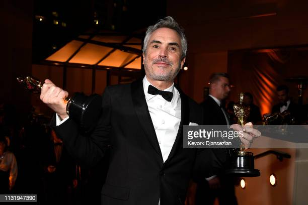 Alfonso Cuaron, winner of the the Foreign Language Film, Cinematography, and Directing awards for 'Roma,' attends the 91st Annual Academy Awards...