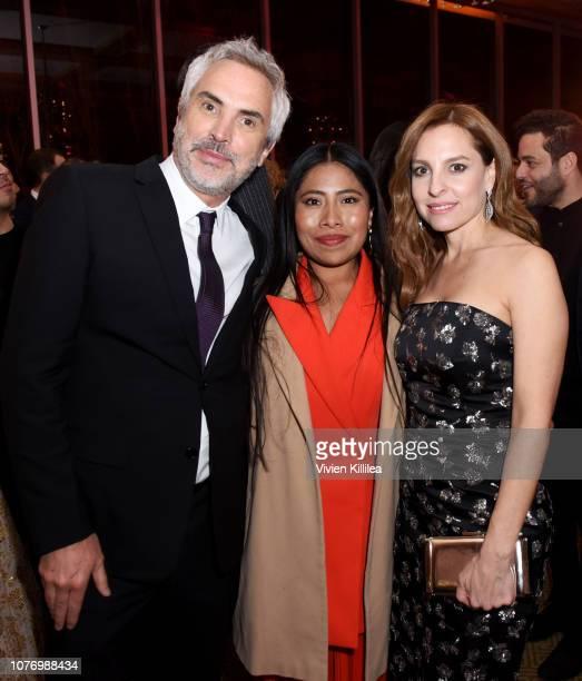Alfonso Cuaron Yalitza Aparicio and Marina De Tavira attend the 30th Annual Palm Springs International Film Festival Film Awards Gala at Palm Springs...
