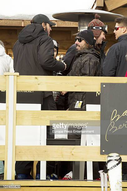 Alfonso de Borbon y Yordi and Javier Hidalgo are seen on holidays in Baqueira Beret on December 9 2010 in Baqueira Beret Spain