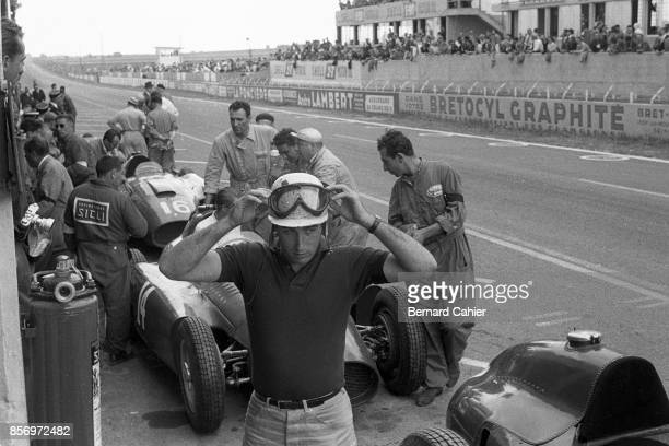 Alfonso de Portago Ferrari D50 Grand Prix of France ReimsGueux 01 July 1956