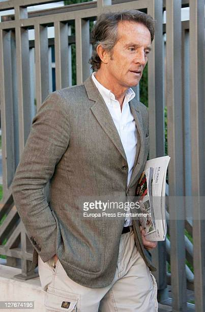 Alfonso Diez boyfriend of Duchess of Alba goes to work on his last day at the office on September 30 2011 in Madrid Spain