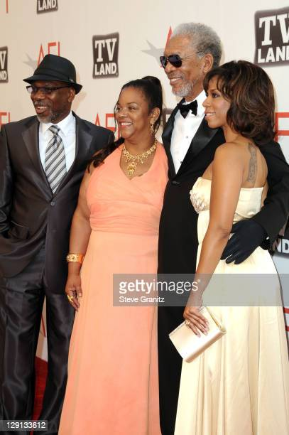 Alfonso Freeman Alexis Freeman 39th Life Achievement Award recipient Morgan Freeman and Morgana Freeman arrive at AFI's 39th Annual Achievement Award...