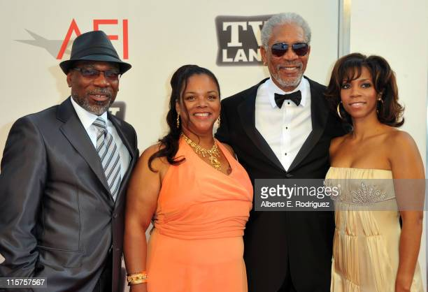 Alfonso Freeman Deena Adair 39th Life Achievement Award recipient Morgan Freeman and Morgana Freeman arrive at the 39th AFI Life Achievement Award...