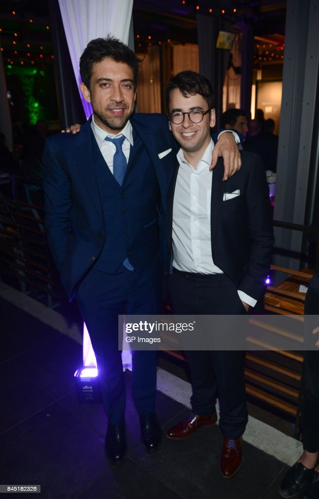 Alfonso Gomez-Rejon and Michael Mitnick attend Alfonso Gomez-Rejon's 'The Current War' TIFF Premiere Party Hosted by Cactus Club Cafe And Johnnie Walker Black Label at First Canadian Place on September 9, 2017 in Toronto, Canada.