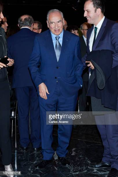 Alfonso Guerra attends '40 Años de Diplomacia en Democracia Una Historia de Exito' exhibition at Casa de America on November 29 2018 in Madrid Spain