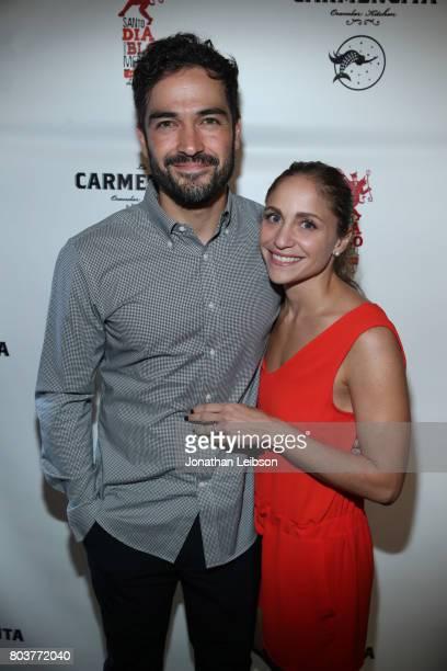 Alfonso Herrera and Diana Vazquez attends the La Carmencita Celebrates Its Grand Opening on June 29 2017 in Los Angeles California