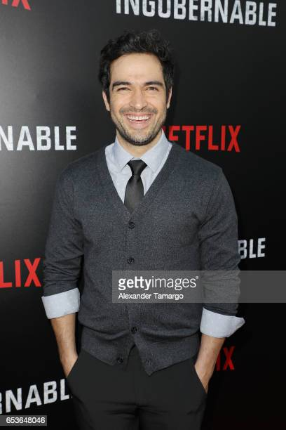 Alfonso Herrera arrives at the Netflix Ingobernable S1 Premiere Miami Screening 2017 on March 15 2017 in Miami Beach Florida