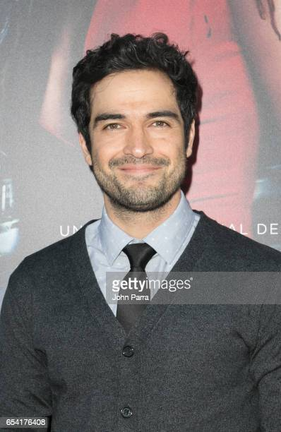 Alfonso Herrera arrives at the Premiere Of Netflix's 'Ingobernable' at Colony Theater on March 15 2017 in Miami Beach Florida