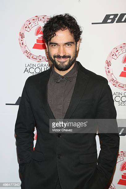 Alfonso Herrera attends the Latin Grammy Acustic Sessions at Estacion Indianillas on November 9 2015 in Mexico City Mexico