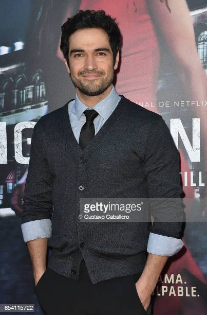 Alfonso Herrera attends the Premiere Of Netflix's 'Ingobernable' Arrivals at Colony Theater on March 15 2017 in Miami Beach Florida