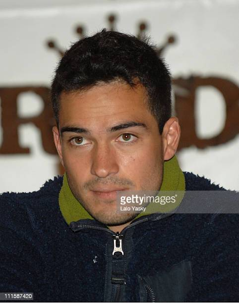 Alfonso Herrera of RBD Rebelde during RBD Rebelde Press Conference in Madrid January 8 2007 at Palace Hotel in Madrid Madrid Spain