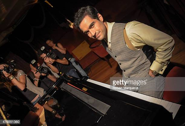 Alfonso Herrera poses on the set of his latest movie 'El Elegido' at the Milano Bar on June 10 2015 in Barcelona Spain