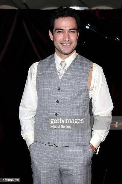 Alfonso Herrera seen on the set of his latest movie 'El Elegido' 'The Elected' at the Milano Bar on June 10 2015 in Barcelona Spain