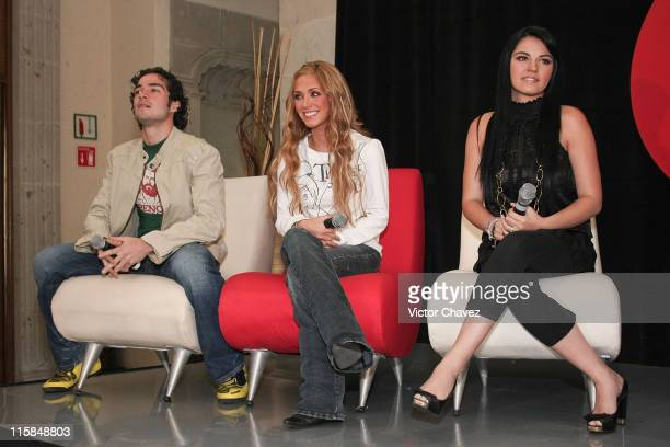 Alfonso HerreraAnahi and Maite Perroni of RBD attends a press conference to announce their new album 'Empezar Desde Cero' held at EMI Music on...