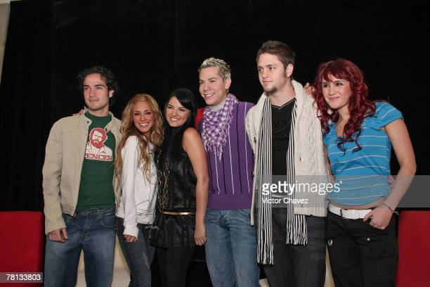 Alfonso HerreraAnahiMaite PerroniChristian ChavezChristopher Uckermann and Dulce Maria of RBD attends a press conference to announce their new album...