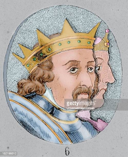 Alfonso I the Battler King of Aragon Colored engraving