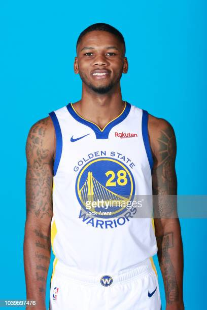 Alfonso McKinnie of the Golden State Warriors during Media Day on September 24 2018 at the Warriors Practice Facility in Oakland California NOTE TO...