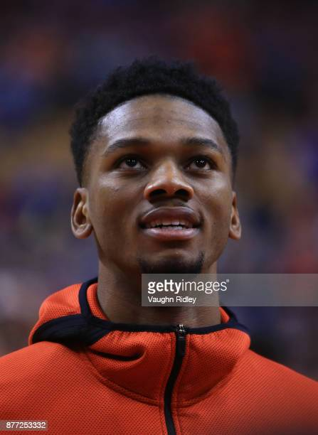 Alfonso McKinnie of the Toronto Raptors looks on during warmup prior to the first half of an NBA game against the Washington Wizards at Air Canada...