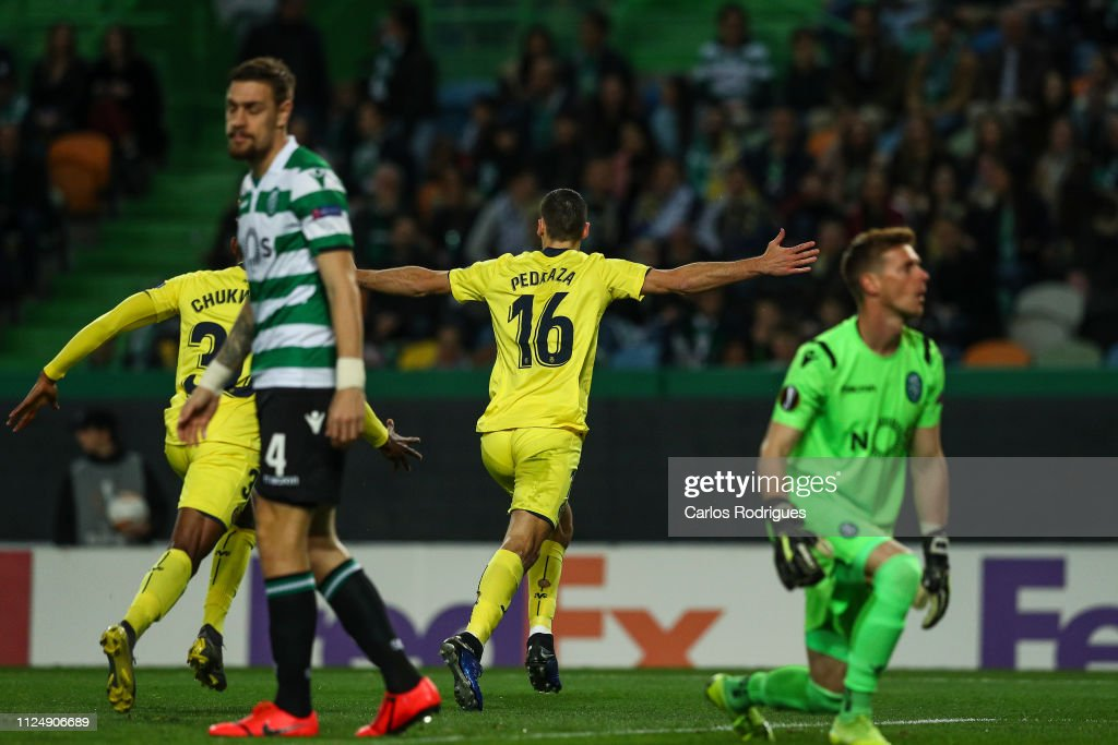 Sporting CP v Villarreal - UEFA Europa League Round of 32: First Leg : News Photo