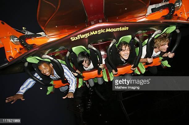Alfonso Ribeiro and guests during Six Flags Magic Mountain's Birthday Bash for Joe Francis VIP Riders at Six Flags Magic Mountain in Valencia...
