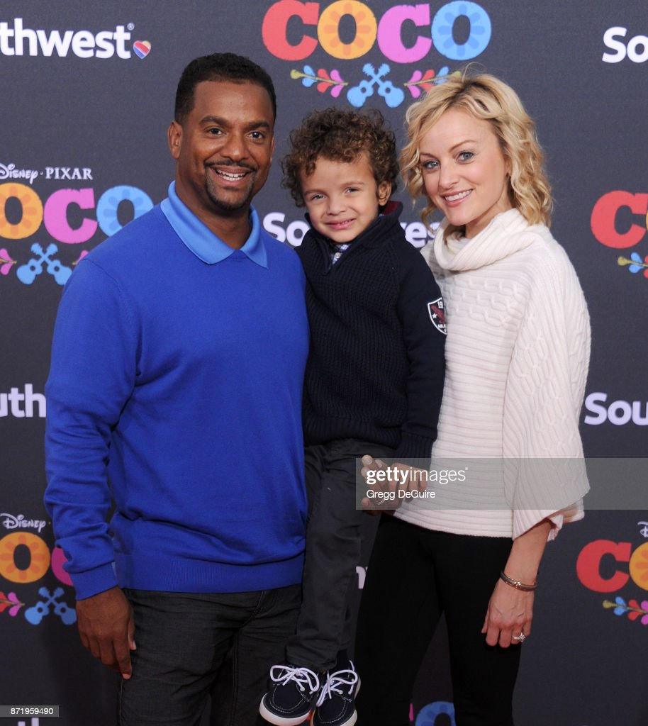 Alfonso Ribeiro, Angela Unkrich and Alfonso Lincoln ...