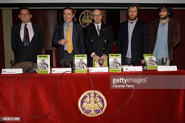 Alfonso Ussia, Pedro J. Ramirez, Pedro Lopez Arriba, David Gistau and Manuel Jabois attend Pedro J. Ramirez new book presentation for 'Contra unos y...
