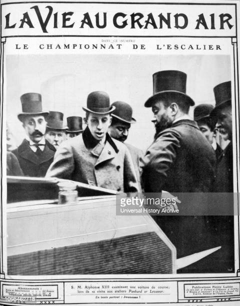 Alfonso XIII in France during a state visit in 1905. Alfonso XIII , King of Spain from 1886 until the proclamation of the Second Republic in 1931.