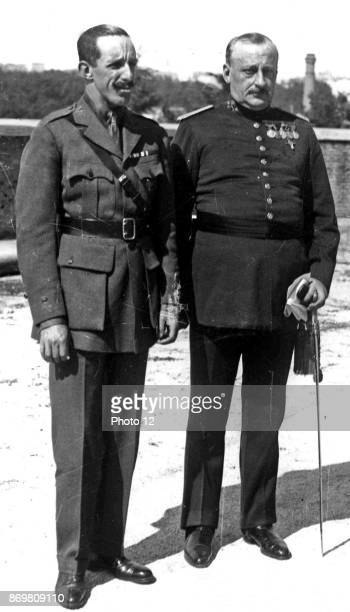 Alfonso XIII King of Spain and general Primo de Rivera 1923
