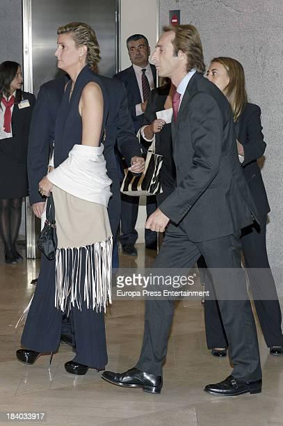 Alfonso Zurita and Maria Zurita attend a homage to Princess Margarita's husband Carlos Zurita for his 25th anniversary as president of Prado Museum's...