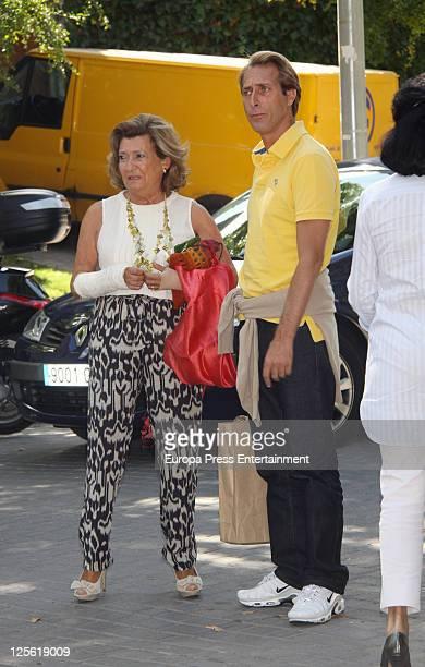 Alfonso Zurita attends Maria Zurita's birthday at 'La Masia de Jose Luis' restaurant Maria Zurita is Princess Margarita's daughter and King Juan...
