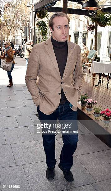 Alfonso Zurita attends Princess Margarita's 77th birthday going for lunch in a restaurant on March 6 2016 in Madrid Spain