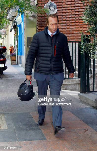 Alfonso Zurita attends the birthday of his father King Juan Carlos's brotherinlaw Carlos Zurita who celebrates his 75th birthday on October 9 2018 in...