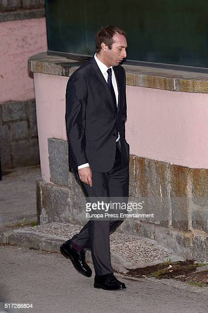 Alfonso Zurita attends the wedding of Princess Pilar's son Beltran Gomez Acebo and Andrea Pascual on February 27 2016 in Madrid Spain