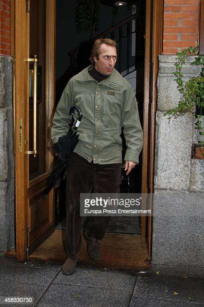 Alfonso Zurita celebrates the birthday of his father Carlos Zurita on October 09 2014 in Madrid Spain