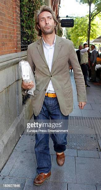 Alfonso Zurita is seen on October 9 2013 in Madrid Spain