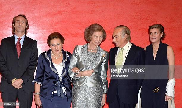 Alfonso Zurita Princess Margarita de Borbon Queen Sofia of Spain Carlos Zurita and Maria Zurita attend an homage to Carlos Zurita at El Prado Museum...