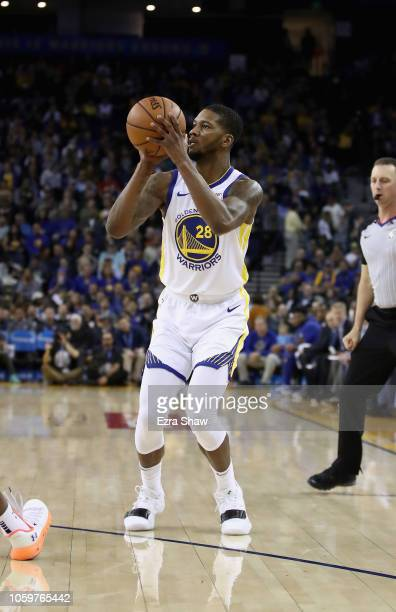 Alfonzo McKinnie of the Golden State Warriors in action against the Phoenix Suns at ORACLE Arena on October 22 2018 in Oakland California NOTE TO...