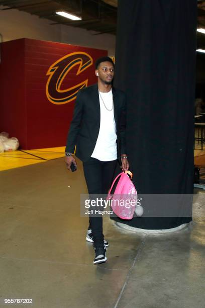 Alfonzo McKinnie of the Toronto Raptors arrives before the game against the Cleveland Cavaliers during Game Four of the Eastern Conference Semifinals...