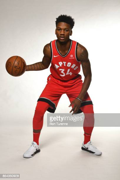 Alfonzo McKinnie of the Toronto Raptors poses for a portrait during Media Day on September 25 2017 at the BioSteel Centre in Toronto Ontario Canada...