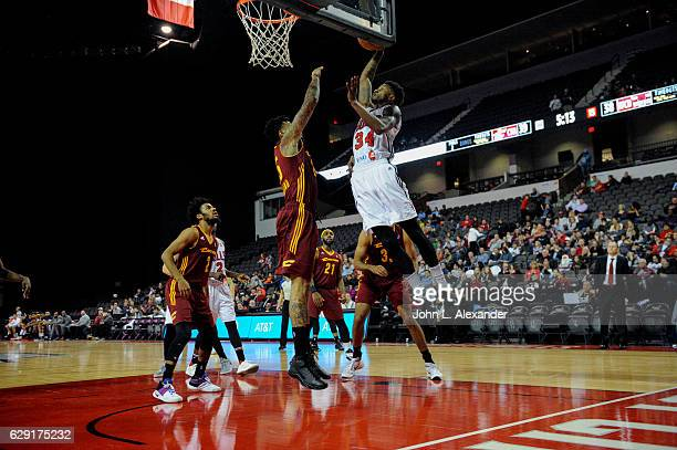 Alfonzo McKinnie of the Windy City Bulls dunks ball the against the Canton Charge on December 9 2016 at the Sears Centre Arena in Hoffman Estates...