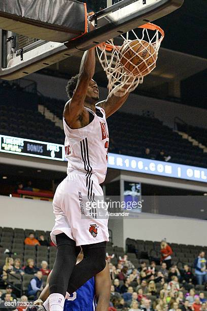 Alfonzo McKinnie of the Windy City Bulls dunks the ball against the Delaware 87ers on December 17 2016 at the Sears Centre Arena in Hoffman Estates...
