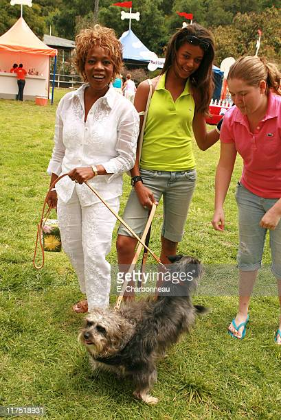 Alfre Woodard and daughter Mavis during Old Navy Nationwide Search for New Canine Mascot April 29 2006 at Franklin Canyon Park in Beverly Hills...