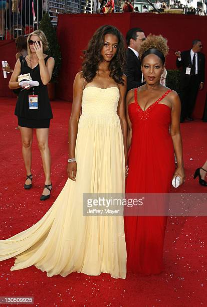 Alfre Woodard and daughter Mavis Spencer arrive at the 60th Primetime Emmy Awards at the Nokia Theater on September 21 2008 in Los Angeles California