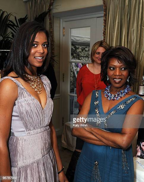 Alfre Woodard and daughter Mavis Spencer attend the DPA Golden Globes Gift Suite on January 16 2010 in Beverly Hills California